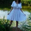Romantikus horgolt ruha, Esküvő, Ruha, divat, cipő, Menyasszonyi ruha, Esküvői ruha, 100% extra finom pamutból készítettem ezt a szép ruhát. mellbőség 105 cm-ig jó hossza 90 cm.  Különl..., Meska