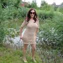 Teve színű horgolt ruha, Ruha, divat, cipő, Női ruha, Ruha, Megrendelésre horgoltam kép alapján, egy kedves vásárlómnak. Annyira szép, hogy szívesen elk..., Meska