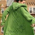 Kapucnis kabát a virágok varázsában, Ruha, divat, cipő, Női ruha, Kabát, Kötés, Most készítettem el egy Kanadai Hölgynek ezt a szépséges kabátot az itt látható kép alapján. De oly..., Meska