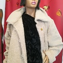Street kabát, Ruha, divat, cipő, Női ruha, Kabát, Varrás, Street kabát.Kellemes buklé alapanyagból készült. Nagy álló gallérral,elején rejtett zsebekkel. Pam..., Meska