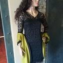 Csipke ruha, Ruha, divat, cipő, Női ruha, Ruha, Csipke ruha. Gyönyörű rugalmas csipke. Alsó réteg rugalmas pamut jersey. Enyhén karcsusított ..., Meska