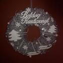 Téli, Karácsonyi ajtódísz, Otthon, lakberendezés, Dekoráció, Karácsonyi, adventi apróságok, Ajtódísz, kopogtató, Ünnepi dekoráció, Karácsonyi dekoráció, Virágkötés, Mindenmás, 30 cm átmérőjű alapra készült karácsonyi, téli apróságokkal díszített kopogtató. Kérhető más felira..., Meska