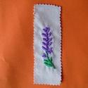 Levendula virágos könyvjelző, Egyéb, Furcsaságok, Hímzés, Varrás, Kézzel himeztem, minőségi vászonra ezt a levendula mintát. Méretei: hossza:13cm, szélessége: 4cm. K..., Meska