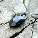Swarovski medál Rock Jet, Ékszer, Medál, Gyönyörű ragyogó Swarovski kristály medál, Rock formában, Jet színben. A Swarovski kristály..., Meska