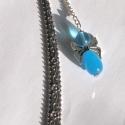 Akció!!! Kék lepkeszárnyú angyal mobildísz vagy könvyjelző, Ékszer, Mobilékszer, Ékszerkészítés, Akció!!! 1200,- helyett 900,-!!!  Kék üveggyöngyökből készült angyalka. Kérheted mobildíszként vagy..., Meska