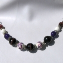 Nyaklánc lila színekben - Akció!!!, Ékszer, Nyaklánc, Medál, Akció!!! 2100,- helyett 1800,- !!!  A nyakláncot egyenként válogatott gyöngyök díszítik lila..., Meska