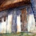 Juhodály, Képzőművészet, Otthon, lakberendezés, Esküvő, Festészet, Dunántúli emlékeim ihlették ezt az akvarellt, melyet a szabadban készítettem, akvarell festékkel pr..., Meska