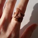 Pikkelyes réz gyűrű, Ékszer, Esküvő, Gyűrű, Réz gyűrű, melyet szeretettel fűrészeltem, reszeltem, kalapáltam. Mindezek után a lemezt hajlítottam..., Meska