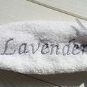 Hímzett kéztörlő - Lavender, Baba-mama-gyerek, Szépségápolás, Fürdőszobai kellék, Egyedi hímzett törölköző levendula rajongóknak!  Lila és fehér színben!  Méret:, Meska