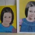 portré, Képzőművészet, Festmény, Akril, Festészet, A 4-es méretű portré ,feszített vászonra ,akril festékkel. Fénykép alapján készült ,amit lehet e-ma..., Meska