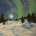 Sarki fény, Dekoráció, Képzőművészet, Festmény, Akril, Feszített vászonra ,akril festéssel készült ez a varázslatos kép,mely elhozza nekünk a mesé..., Meska