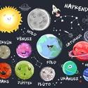 Bolygók naprendszer babaszoba dekoráció szülinapi poszter falikép űrhajós világegyetem csillag égitest szaturnusz mars, Baba-mama-gyerek, Dekoráció, Gyerekszoba, Baba falikép, Érdekli a gyereked a világegyetem? Beszélgettek a csillagokról, nézitek a telihold szépséges fényeit..., Meska