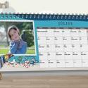 13 oldalas egyedi grafikájú asztali naptár kalendárium fényképes naptár calendar milestone babakártya családi szabályok , Naptár, képeslap, album, Otthon, lakberendezés, Naptár, Jegyzetfüzet, napló, 13 oldalas egyedi grafikájú asztali naptár  Ha egy igazán személyes és egyedi ajándékkal szeretnéd m..., Meska
