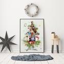 egyedi fényképes karácsonyfa poszter öröknaptár naptár kronológia határidőnapló szülinapi poszte rkarácsonyi ajándék