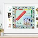 Monopoly társasjáték poszter szülinapi poszter falidekor nászajándék legjobb barátnő kerek évforduló walldecor