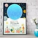 Csillagtérkép kisfiú kislány kisbaba, Keresztelő ajándék, Babaváró csillagkép térkép Unisex Mérföldkő starmap égbolt, Egyedi csillagtérkép kisfiúknak, kislányoknak ...