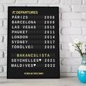 Repülőtér szülinapi születésnapi poszter, Utazás szerelmeseinek repülőút, vicces ajándék útinapló táblaposzter emléklap, Repülőtér szülinapi születésnapi poszter, Ut...