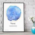 Egyedi csillagtérkép poszter kerettel, Keresztelő születésnapi ajándék zsúr, Csillagkép térkép nászajándékba, zodiákus, Egyedi csillagtérkép poszter, Keresztelő szüle...