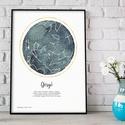 Egyedi csillagtérkép égbolt kerettel, Szülinapi csillagkép keresztelőre, névnapi ajándék, házassági évforduló, névadó, Egyedi csillagtérkép égbolt, Szülinapi csillag...
