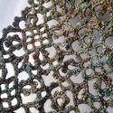 SMARAGD sál, 100% merinó gyapjúból horgolt sál / gallér in...