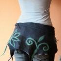 Nemez virágos kiegészítő, Ruha, divat, cipő, Öv, Derékra csavarható nemez virágos kisszoknya - ajánlott nadrágra viselni :) Anyaga merinóigyapj..., Meska