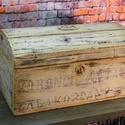 Vintage Láda, Bútor, Dekoráció, Otthon, lakberendezés, Tárolóeszköz, Vintage Láda Szú és az összes farontó bogár elleni védelmet megkapta, majd alapos tisztítás..., Meska