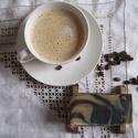 Cappuccino reggeli frissesség, Szépségápolás, Szappan, tisztálkodószer, Növényi alapanyagú szappan, Natúrszappan, Frissítő szappan reggeli zuhanyzáshoz holt tengeri iszappal.  Dallmayr kávéval, borsmenta illóolajja..., Meska