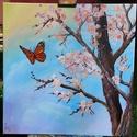 Lebegés, Képzőművészet, Festmény, Akril, Festészet, A képen látható festményem megrendelésre készült 50*50 -es feszített vászonra. Mivel nagyon örömet ..., Meska