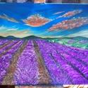 Levendula mező <3 Most 30% kedvezménnyel!, Képzőművészet, Festmény, Akril, Festészet, Kedvencem, a  levendula jegyében született legújabb festményem.  MOST 10.500.- ÉRT A TIÉD LEHET ! :..., Meska