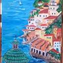 Amalfi Dóm, Képzőművészet, Festmény, Akril, Bakancslistámon szereplő egyik kedvencem , Amalfi hangulatát próbáltam újra vászonra varázso..., Meska