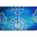 Mandalás kékség., Képzőművészet, Festmény, Akril, Festészet, Két részből álló akril festmény, a teljes kompozíció mérete 80*40 cm. Számomra a fák a teljességet ..., Meska
