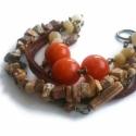 Vásár! Bézs Narancs- Réz Karkötő Aventurinnal, Többsoros  réz  karkötő valódi kövekkel, ant...