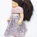 Előleg egyedi megrendelésre - Klasszikus Waldorf lány baba 35 cm formázható hajjal, Játék, Baba, babaház, Varrás, Kötés, Egyedi megrendelésre készült termék. Az ár előleg a babára.  A baba egész teste a Waldorf előírások..., Meska
