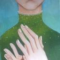 Titok I. / Akril kép/, Egyéb, Gyerek & játék, Gyerekszoba, Festészet, Fotó, grafika, rajz, illusztráció, Ez az akril kép, a titok sorozat első képe. Egy régi-régi kedvenc mesém a Pöttöm Panna ihlette, és ..., Meska