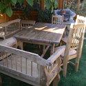Vintage kerti garnitúra, Bútor, Szék, fotel, Famegmunkálás, Nagyon szép és egyedi kerti garnitúra vintage stílusban , Meska