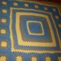 Kék-sárga-szürke babatakaró, Egy korábbi takaró mintája alapján a megrendel...