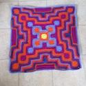 Horgolt kockás baba takaró, Gyerek & játék, Gyerekszoba, Falvédő, takaró, Finom, meleg, vidám takarót készítettem ezzel a különleges mintával. Mérete 80x80 cm., Meska