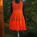 Narancs horgolt ruha, Táska, Divat & Szépség, Ruha, divat, Gyerekruha, Kamasz (10-14 év), Női ruha, Ruha, Élénk narancs színű ruha, rugalmas mintával, így több méretben is megfelelő. Mellbőség75-85 cm hossz..., Meska