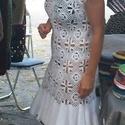 Horgolt fehér ruha modern mintával, Esküvő, Táska, Divat & Szépség, Menyasszonyi ruha, Ruha, divat, Női ruha, Ruha, Pamut fonalból horgoltam ezt a fehér ruhát, melynek alján körfodor van. Menyasszonyi ruhának is jó s..., Meska