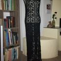 Fekete hosszú horgolt ruha, Táska, Divat & Szépség, Ruha, divat, Női ruha, Ruha, Csipke mintával horgoltam ezt a hosszú fekete ruhát. Hosszanti minta vezetése nyújtja az alakot. Ott..., Meska