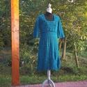 Kékes-zöldes vastag horgolt ruha, Táska, Divat & Szépség, Ruha, divat, Női ruha, Kismamaruha, Ruha, Dús díszítésű vastag ruhát horgoltam kékes-zöldes gyapjú tartalmú fonalból. Mellbőség 90-95 cm hossz..., Meska