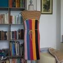 Vidám nyári horgolt pamut ruha, Táska, Divat & Szépség, Ruha, divat, Női ruha, Ruha, Pamut anyagból horgoltam ezt a színes ruhát. Mellbősége 90 cm, hossza 100 cm., Meska