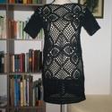 Fekete csipke rövid ruha, Táska, Divat & Szépség, Ruha, divat, Női ruha, Ruha, Estélyi ruha, Pamut anyagból horgoltam ezt a kis fekete ruhát. Mellbősége 90 cm, hossza 90 cm, ujja hossza 15 cm...., Meska
