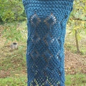 Kék pókos horgolt ruha, Táska, Divat & Szépség, Ruha, divat, Női ruha, Ruha, Vastag fonalból horgoltam ezt a meleg ruhát. Mellbőség 90 cm, hossza 90 cm., Meska