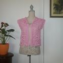 Rózsaszínű kis mellény, Érdekes mintázatú kabátka készült fém szál...