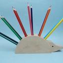 Fa tolltartó süni, Dekoráció, Mindenmás, Otthon, lakberendezés, Asztaldísz, Fából készült ceruza és tolltartó dekoratív süni külsővel. a termék 5 rétegből készül..., Meska