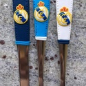 Real Madrid szett, Konyhafelszerelés, Otthon, lakberendezés, Férfiaknak, Focirajongóknak, Gyurma, Mindenmás, Lepd meg magad vagy szerettedet egy étkészlettel, amely a Real Madrid focicsapat logóját ábrázolja...., Meska