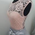 Púder Nelli csipkebody, Ruha, divat, cipő, Esküvői ruha, Női ruha, Felsőrész, póló, Eladztikus csipkéből készült body.38 méret. Más méretre is el tudom készíteni., Meska