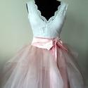 """Tüllszoknya"""" Diona """"Rose színben, Ruha, divat, cipő, Esküvői ruha, Diona tüllszoknya 5 tüllréteggel, szatén alsószoknyával.38 méretű. Hossza 57 cm., Meska"""