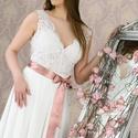 Menyasszinyi ruha , Ruha, divat, cipő, Esküvői ruha, Külön bodyból és tüllszoknyaból álló menyasszonyi ruha. 38 méret. , Meska